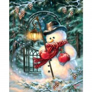 Diy Diamond Embroidery Snowman Lantern Diamond Painting Rhinestone Painting Cross Stitch Needlework Home Decoration